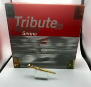 Montegrappa Tribute To Ayrton Senna 18k Solid Gold Fountain Pen New Year 1995