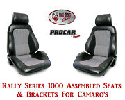 Scat Rally Series 80-1000-41 Seats And Brackets Set Houndstooth Chevy Camaro