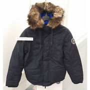 Abercrombie And Fitch Mens Gothics Mountain Parka Jacket Navy Size Ml Aandf