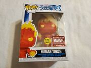 Marvel Collector Corps Exclusive - Human Torch Funko Pop 572 Nib W/ Protector
