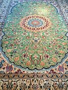6and039 7 X 9and039 3 Very Rare Super Fine Nain Wool Silk Hand Made Rug Esfhan