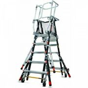 Little Giant Safety Cage 8'-14' W/ Wheel Lift And Ratchet Levelers