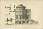 Pl. 9 Antique Print Of The Casino Of Lord Bruce By Le Rouge C.1785