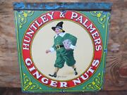 18.5x18 Authentic Original 1900 Huntley And Palmers Ginger Nuts Porcelain Sign