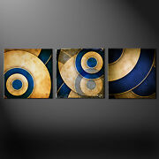 Grunge Abstract Design Set Of 3 Canvas Picture Print Wall Art Free Delivery