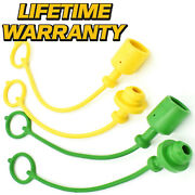 4 Pack Hydraulic Dust Cap And Plug Replaces Iso 3/8 John Deere 7 8 8a 8b 10 10a