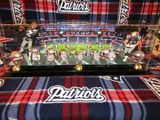 New England Patriots Brady And Gronk Mcfarlane 10 Ring Display Case