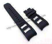 Comp. Russian Diver 15562 15563 15564 26mm Black Rubber Watch Band Strap