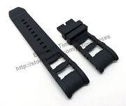 Comp. Russian Diver 80112 80114 80116 26mm Black Rubber Watch Band Strap