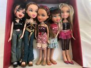 Bratz Dolls Lot With Car, Motorcycle, Accessories And Clothing