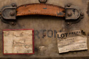 Antique Belber Trunk And Bag Co Military Footlocker, U.s. Army, Labels, Must Read