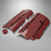 1999-2004 Corvette Smoothie Fuel Rail Covers Magnetic Red/black 612141086976