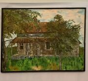 Lawrence Nickle Painting Oil On Canvas Homestead Farm 1973 32x24
