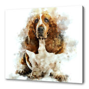 Basset Hound Canvas Print Picture Wall Art Home Design Free Fast Delivery