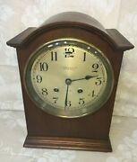 Chelsea Mantel Clock A Stowell And Co Boston Runs And Strikes Cherry Wood Case