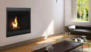 Superior Drc2035 Contemporary Direct Vent Gas Fireplace With Black Glass Media