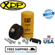 Xdp Cat Adapter W/ 1r-0750 Filter Bleeder Screw And Spacer Fits 01-16 Gm 6.6l