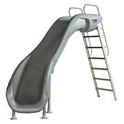 S.r. Smith 610-209-58220 Rogue2 Pool Slide Left Curve Gray 8and039 For Swimming Pools