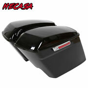 5 Stretched Extended Hard Saddle Bags For Harley Touring Street Glide 2014-2021