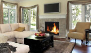 Superior Drc6345 Modern Direct Vent Gas Fireplace With Porcelain Interior Liner
