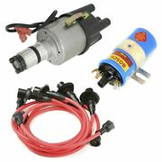Vw Bug Ignition Kit W/empi 9441 Electronic 009 Dist, Bosch Coil, Red Wires
