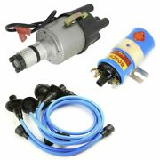 Vw Bug Ignition Kit W/empi 9441 Electronic 009 Dist, Bosch Coil, Blue Wires