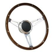 15 Wood Boat Steering Wheel With Adapter 3 Spoke Boats With 3/4 Tapered Key