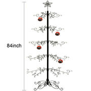 Metal Ornaments Display Tree Stand Christmas Wrought Iron Trees 174 Hook 84h