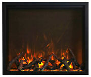 Amantii Trd 48 Traditional Electric Fireplace With Canopy Lighting And Remote