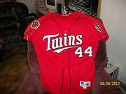 Minnesota Twins Red Dairy Queen 1997 Game Worn Jersey- 44 Dick Such Sz. 48