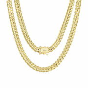 10k Yellow Gold Solid 6mm Mens Miami Cuban Chain Pendant Necklace Box Clasp 22