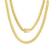 14k Yellow Gold Solid Mens 5mm Miami Cuban Link Chain Pendant Necklace 18- 30