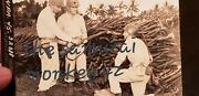 Ww2 Original Usa Japanese Photo Soldiers Capture Pile Of Rifles Next To Jap Sold