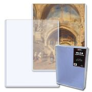 Bcw Topload Rigid Holders Lithograph Large Sleeve 11 X 14 Bond 25 Protectors