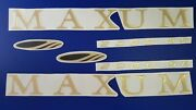 Maxum Boat Emblem 30 Gold + Free Fast Delivery Dhl Express - Raised Decals