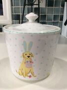 222fifth Easter Pups Medium Canister With Lid