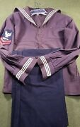 Wwi Us Navy 1918 Aviation Quartermaster Petty Officer Rate 2 Class Uniform Named