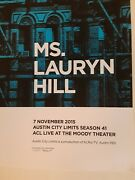 Lauren Hill 2015 Acl Taping Austin Texas Concert Poster Art Print Signed Number