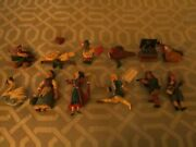 Complete 1997 House Of Hatten 12 Twelve Days Of Christmas Ornaments Set Pipers