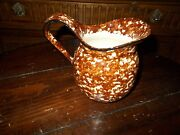 Vintage Stangl Town And Country Brown Sponge Ware Pitcher 5 3/4