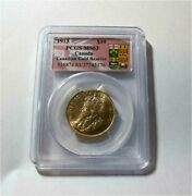1913 Canada 10 Dollars Pcgs - Ms63 Canadian Gold Reserve From Rcm Sale