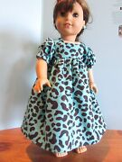 Homemade 18 American Girl/madame Alexander Turq Leopard Nightgown Doll Clothes