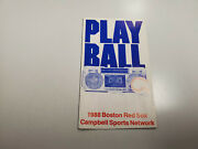 Rs20 Boston Red Sox 1988 Mlb Baseball Pocket Schedule - Campbell Sports/bud