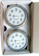 Deeptech Led Underwater Light Boat And Yacht Blue Color 27w 9-30v Dc 2 Pcs.