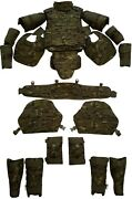 Set Of Body Armor Gear Protection Bulletproof Tactical Vest And Pad Elements