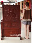 Chinese Camphorwood Good Fortune Blessing Wood Folding Table Screen Table Plaque