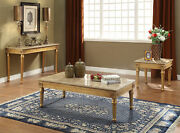 Acme Furniture Daesha - Coffee Table Marble And Antique Gold