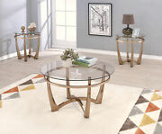 Acme Furniture Orlando Ii - Coffee Table Champagne And Clear Glass