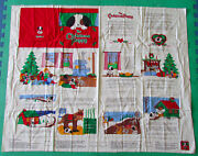 Vintage Cranston Fabric The Christmas Puppy Book Panel Children Sewing Crafts