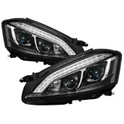 Spyder For Mercedes W221 S Class 07-09 Headlights - Hid Model Only - Black Pro-y
